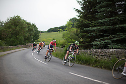 Rozanne Slik (NED) of Liv-Plantur Cycling Team tackles a fast descent during the Aviva Women's Tour 2016 - Stage 3. A 109.6 km road race from Ashbourne to Chesterfield, UK on June 17th 2016.