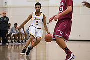 Mission Bears guard Jamion Wright (2) pushes the ball down the court during the Fukushima Invitational at Independence High School in San Jose, Calif., on December 7, 2016. (Stan Olszewski/Special to S.F. Examiner)