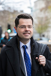 © Licensed to London News Pictures. 07/12/2017. London, UK. Secretary of State for Northern Ireland James Brokenshire on Whitehall after leaving Downing Street. Photo credit: Rob Pinney/LNP