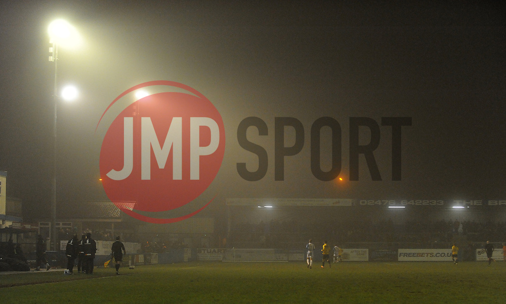 A gloomy James Parnell Stadium, home of Nuneaton - Photo mandatory by-line: Neil Brookman/JMP - Mobile: 07966 386802 - 04/01/2015 - SPORT - football - Nuneaton - James Parnell Stadium - Nuneaton Town v Bristol Rovers - Vanarama Conference