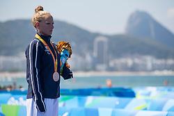 Gwladys LEMOUSSU, FRA, Medaille de Bronze, Podium, Para-Triathlon - PT4 at Rio 2016 Paralympic Games, Brazil