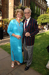 TV presenter NICHOLAS PARSONS and his wife ANNE at the Lady Taverners Westminster Abbey Garden Party, The College Garden, Westminster Abbey, London SW1 on 10th July 2007.<br /><br />NON EXCLUSIVE - WORLD RIGHTS