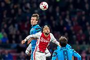 AMSTERDAM - 05-04-2017, Ajax - AZ, Stadion Arena, AZ speler Stijn Wuytens, Ajax speler Hakim Ziyech