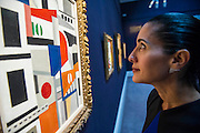 Sotheby's London Exhibition of Sale Highlights from the Forthcoming Major New York Auctions of Contemporary and Impressionist and Modern Art, including exceptional Diamonds from Geneva. The auctions will include: $25-35 million masterpiece by Gerhard Richter; Leger - Les Maisons (pictured) They will take place in New York and Geneva 11-15 April 2014. Sotheby's, New Bond St, London, UK.
