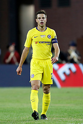 May 15, 2019 - Foxborough, MA, U.S. - FOXBOROUGH, MA - MAY 15: Chelsea FC defender Cesar Azpilicueta (28) with captain's armband during the Final Whistle on Hate match between the New England Revolution and Chelsea Football Club on May 15, 2019, at Gillette Stadium in Foxborough, Massachusetts. (Photo by Fred Kfoury III/Icon Sportswire) (Credit Image: © Fred Kfoury Iii/Icon SMI via ZUMA Press)