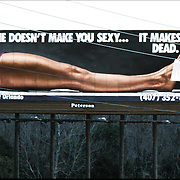 "Public service - anti-drug billboard on highway ""Cocaine Doesn't Make You Sexy ... It Makes You Dead."" Orlando, FL"