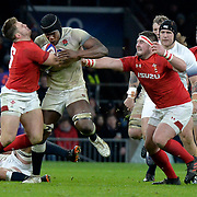 10.02.2018 NatWest Six Nations International Rugby England Vs Wales at RFU Twickenham Stadium UK          Maro Itoje ENG in action during the match which was won by England 12-6