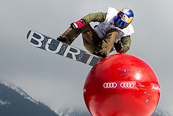 March 24, 2017 - Spindleruv Mlyn, Czech Republic - USA's LYON FARRELL in action during A qualification RUN of slopestyle at the Audi Snow Jam FIS Snowboard World Cup in Spindleruv Mlyn, Czech Republic. (Credit Image: © David Tanecek/CTK via ZUMA Press)