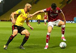 Callum O'Dowda of Bristol City takes on Nordin Amrabat of Watford - Mandatory by-line: Robbie Stephenson/JMP - 22/08/2017 - FOOTBALL - Vicarage Road - Watford, England - Watford v Bristol City - Carabao Cup