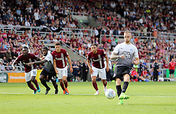 Marcus Maddison of Peterborough United scores from the penalty spot to make it 4-1<br />  - Mandatory by-line: Joe Dent/JMP - 26/08/2017 - FOOTBALL - Sixfields Stadium - Northampton, England - Northampton Town v Peterborough United - Sky Bet League One