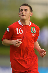 REYKJAVIK, ICELAND - Wednesday, May 28, 2008: Wales' Neal Eardley in action against Iceland during the international friendly match at the Laugardalsvollur Stadium. (Photo by David Rawcliffe/Propaganda)