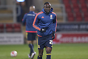 Middlesbrough midfielder Albert Adomah (27)  during the Sky Bet Championship match between Rotherham United and Middlesbrough at the New York Stadium, Rotherham, England on 8 March 2016. Photo by Simon Davies.