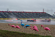 October 23-25, 2015: United States GP 2015: Qualifying action during a wet USGP session