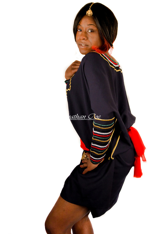 Clothing &amp; Accessories: Dynami Al-Anjeri Couture<br /> Model: Ruby Williams