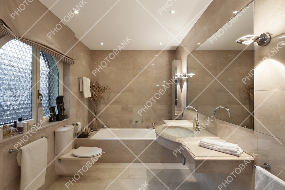 Interior of a modern house, bathroom, classic design