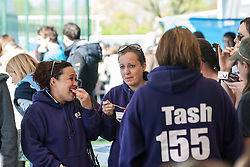 Spectators at the Investec Women's Hockey League Finals Weekend, Sonning Lane, Reading, UK on 13 April 2014. Photo: Simon Parker