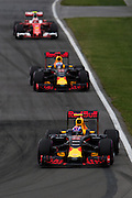 June 9-12, 2016: Canadian Grand Prix. Max Verstappen, Red Bull , Daniel Ricciardo (AUS), Red Bull, Kimi Raikkonen (FIN), Ferrari