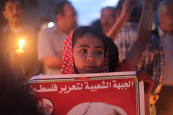 April 28, 2017 - Gaza, Gaza - Dozens of children lit candles in the Jabalia refugee camp northern Gaza, in solidarity with the striking prisoners in Israeli jails. (Credit Image: © Ramez Habboub/Pacific Press via ZUMA Wire)