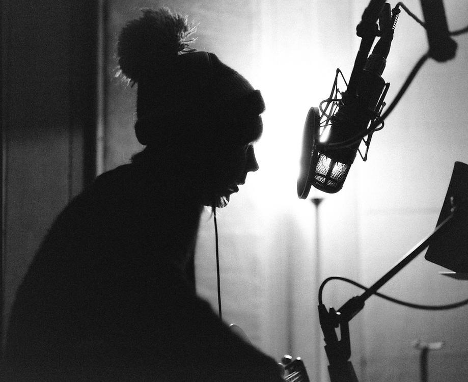 """Beth Orton recording """"Sugaring Season"""" at Flora Recording and Playback."""