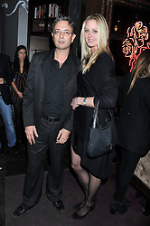 NICK VALENTINE and SAMANTHA STEPHENSON at a party to celebrate the launch of Pomp magazine - a magazine representing London Luxury without the Ceremony focusing on the luxury, fashion and culture of the Capital, hosted by Tom Parker Bowles and the Directors of Pomp Magazine held at The Cuckoo Club, Swallow Street, London on 17th November 2011.