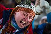 &Ouml;STERSUND, SVERIGE - 2017-12-03: Norskt Fans under damernas jaktstart t&auml;vling under IBU World Cup Skidskytte p&aring; &Ouml;stersunds Skidstadion den 1 december 2017 i &Ouml;stersund, Sverige.<br /> Foto: Johan Axelsson/Ombrello<br /> ***BETALBILD***