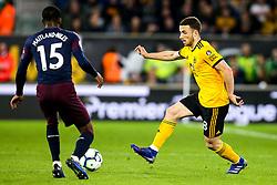 Diogo Jota of Wolverhampton Wanderers takes on Ainsley Maitland-Niles of Arsenal - Mandatory by-line: Robbie Stephenson/JMP - 24/04/2019 - FOOTBALL - Molineux - Wolverhampton, England - Wolverhampton Wanderers v Arsenal - Premier League
