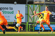 Forest Green Rovers Liam Noble(15) shoots at goal misses the target during the Vanarama National League match between Forest Green Rovers and Braintree Town at the New Lawn, Forest Green, United Kingdom on 21 January 2017. Photo by Shane Healey.