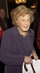 BARONESS CASTLE OF BLACKBURN at a luncheon in London on 18th October 2000.OHZ 55