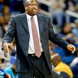 Nov 22, 2013; New Orleans, LA, USA; Cleveland Cavaliers head coach Mike Brown against the New Orleans Pelicans during the first quarter of a game at New Orleans Arena. Mandatory Credit: Derick E. Hingle-USA TODAY Sports