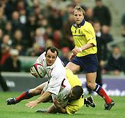Twickenham. England. RFU Twickenham Stadium UKThe Investec Challenge. 17th Nov 2001, England v Romania - Twickenham. Austin Healey (playing scrum half)