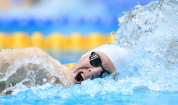 Kieran Wheatley competes in the Men's Open 400m Individual Medley heats during day three of the 2017 British Swimming Championships at Ponds Forge, Sheffield.