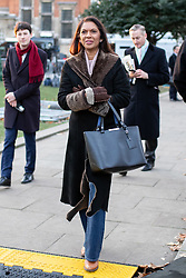 © Licensed to London News Pictures. 13/12/2018. London, UK. Anti-Brexit campaigner Gina Miller arrives on College Green before speaking to media. Yesterday, British Prime Minister Theresa May won the backing of her party to stay on as Prime Minister, following a vote of no confidence.  Photo credit : Tom Nicholson/LNP