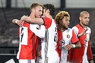 20-10-2016: Voetbal: Feyenoord v Zarja Loegansk: Rotterdam<br /> <br /> (L-R) Nicolai Jorgensen (Feyenoord) scored 1-0 during Europa League match between Feyenoord and Zorja Luhansk on 20 oktober 2016 at Stadion Feijenoord (de Kuip), Rotterdam, Zuid-Holland<br /> <br /> Europa League - Season 2016 / 2017<br /> <br /> Photo: Gertjan Kooij