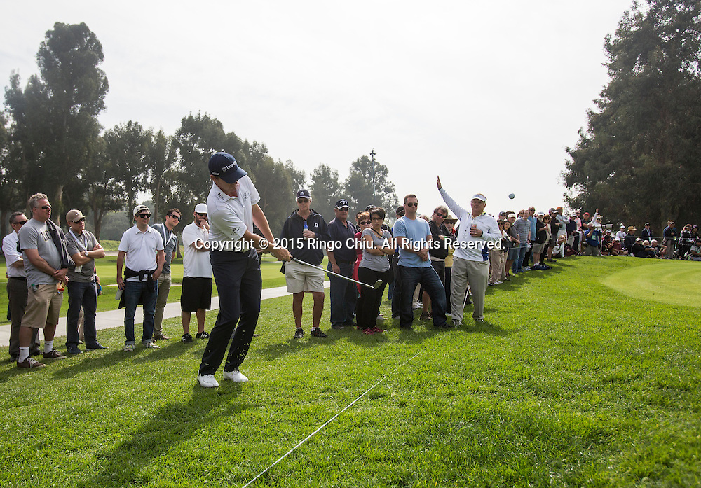 Jimmy Walker plays in the second round of the Northern Trust Open PGA golf tournament at Riviera Country Club in Los Angeles on Friday, February 20, 2015.(Photo by Ringo Chiu/PHOTOFORMULA.com)