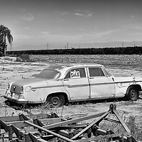 An abandoned car sits in an unused field outside of Tulare in Tulare County in California's Central Valley, CA, Saturday, Oct. 8, 2016. One of the worst droughts in California history officially ended this spring in all of the state's counties except Fresno, Kings, Tulare and Tuolumne.<br />