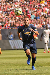 July 28, 2018 - Ann Arbor, MI, U.S. - ANN ARBOR, MI - JULY 28: Manchester United Forward Juan Mata (8) tries to chase down the ball during the ICC soccer match between Manchester United FC and Liverpool FC on July 28, 2018 at Michigan Stadium in Ann Arbor, MI (Photo by Allan Dranberg/Icon Sportswire) (Credit Image: © Allan Dranberg/Icon SMI via ZUMA Press)
