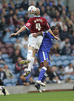 Photo: Paul Thomas.<br /> Burnley v Cardiff. Coca Cola Championship.<br /> 10/09/2005.<br /> <br /> Cameron Jerome andJon McGreal.