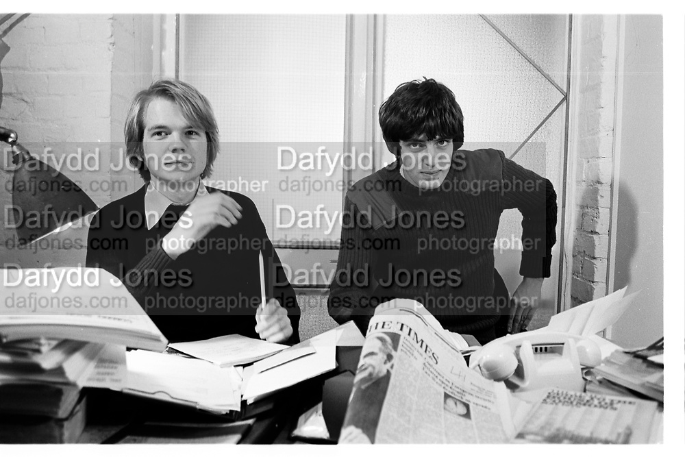 William Hague and Guy Hands. Worcester Place, Oxford. 1980.  © Copyright Photograph by Dafydd Jones 66 Stockwell Park Rd. London SW9 0DA Tel 020 7733 0108 www.dafjones.com