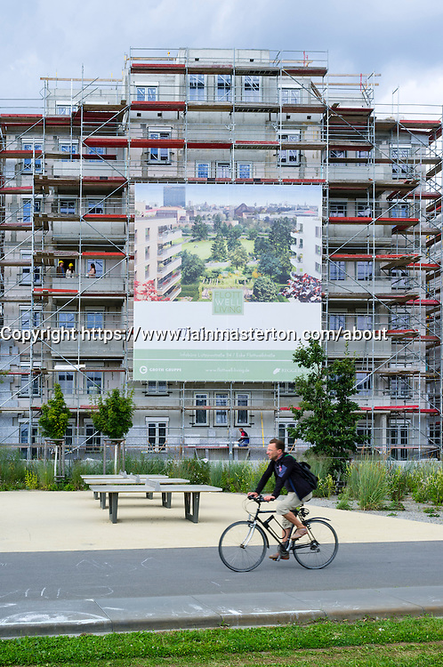 New luxury apartment building under construction in central Berlin Germany