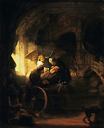 Tobias  Returns Sight to is Father' 1636. Rembrandt van Rijn (1609-1669) Dutch painter. Oil on canvas.
