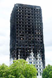 June 15, 2017 - London, London, UK - Exterior view of burnt out Grenfell Tower (Credit Image: © Ray Tang via ZUMA Wire)