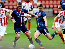Jon Guthrie of Walsall shoots at goal - Mandatory by-line: Nizaam Jones/JMP- 28/07/2018 - FOOTBALL - Jonny-Rocks Stadium - Cheltenham, England - Cheltenham Town v Walsall - Pre-season friendly