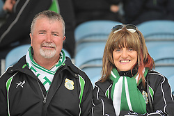 Supporting Castlebar Celtic at the Connaught Cup Final at Milebush were Phillip and Geraldine Cresham.<br /> Pic Conor McKeown