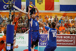 20170525 NED: 2018 FIVB Volleyball World Championship qualification, Koog aan de Zaan<br />Athanasios Terzis (5) of Greece <br />©2017-FotoHoogendoorn.nl / Pim Waslander