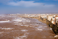 ESSAOUIRA, MOROCCO - CIRCA MAY 2018:  View of walls of Essaouira and old town
