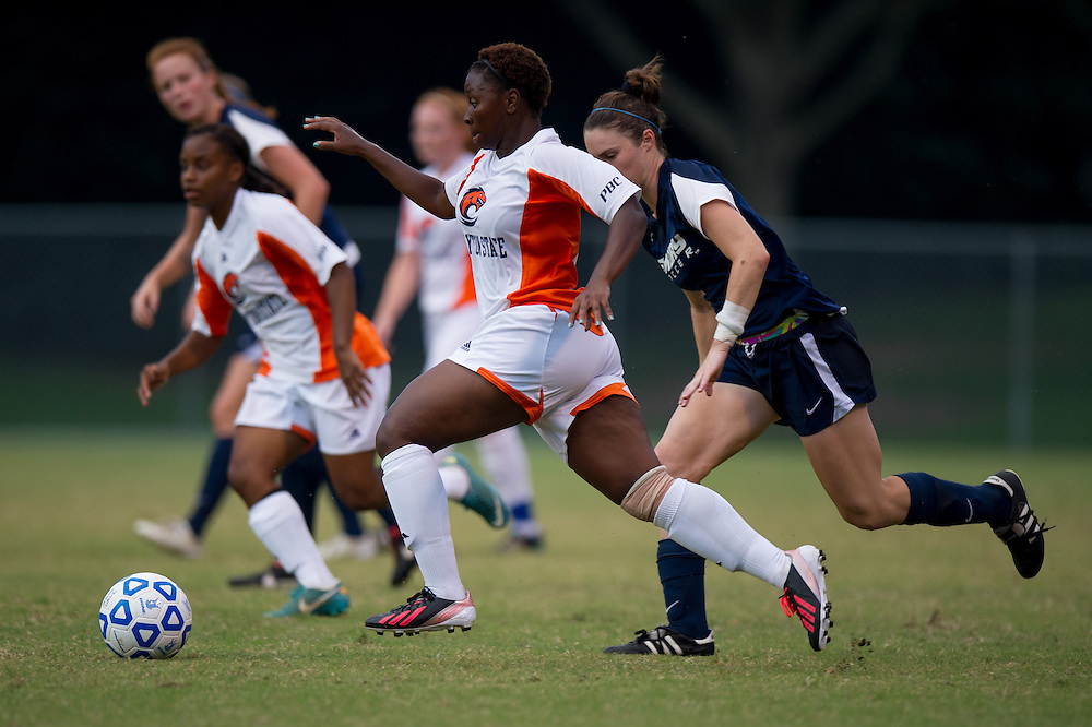 Aug 25, 2013; Morrow, GA, USA; Clayton State women's soccer player Jahmela Williams against Emory University at CSU. Photo by Kevin Liles/kdlphoto.com