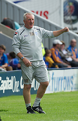SHREWSBURY, ENGLAND - Saturday, August 25, 2012: Tranmere Rovers' manager Ronnie Moore during the Football League One match against Shrewsbury Town at Greenhous Meadow. (Pic by Dave Richards/Propaganda)