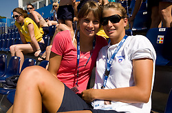 Sara Isakovic and Nina Cesar of Slovenian team during the 13th FINA World Championships Roma 2009, on August 2, 2009, at the Stadio del Nuoto,  in Foro Italico, Rome, Italy. (Photo by Vid Ponikvar / Sportida)