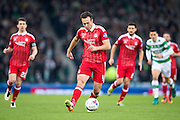 Aberdeen defender Andrew Considine (#4) in action during the Scottish Cup final match between Aberdeen and Celtic at Hampden Park, Glasgow, United Kingdom on 27 November 2016. Photo by Craig Doyle.