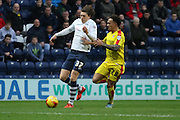 Preston North End Midfielder Adam Reach attacks during the Sky Bet Championship match between Preston North End and Rotherham United at Deepdale, Preston, England on 2 January 2016. Photo by Pete Burns.